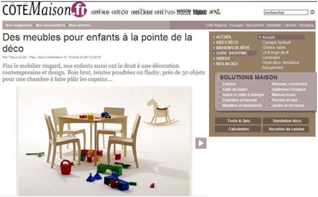 cotemaison.fr László Szikszai meubles enfants