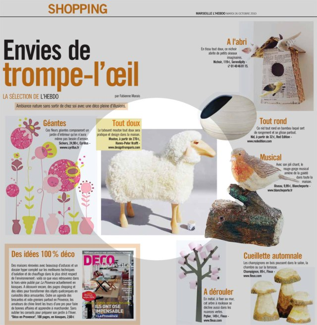 Moutons Hanns Peter Krafft L'hebdo La Provence trompe l'oeil