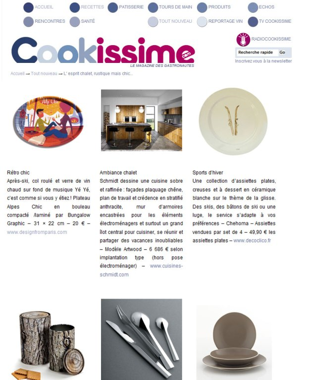 Cookissime Plateau Alpes Chic Bungalow Graphics