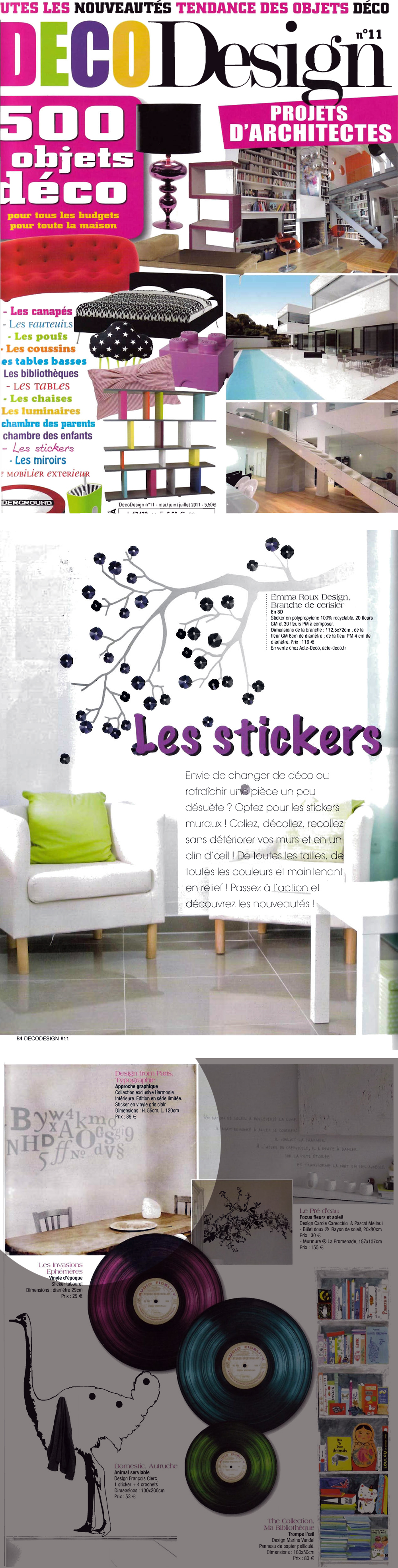 les stickers d harmonie int rieure sont dans le magazine d co design. Black Bedroom Furniture Sets. Home Design Ideas