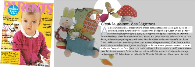 Doudou radis magazine Parents Decembre 2011