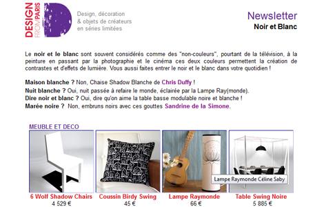 Newsletter Noir et Blanc