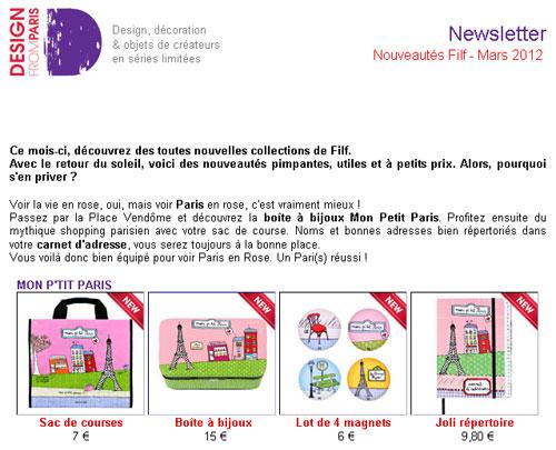 Newsletter Mars 2012