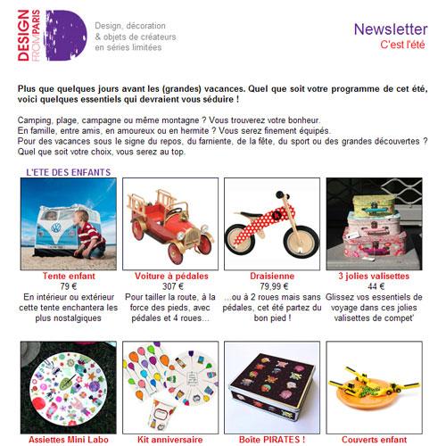Newsletter Design from Paris - Nouveautés pour un été fantastique