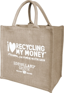 Sac shopping ecolo I love recycling my money