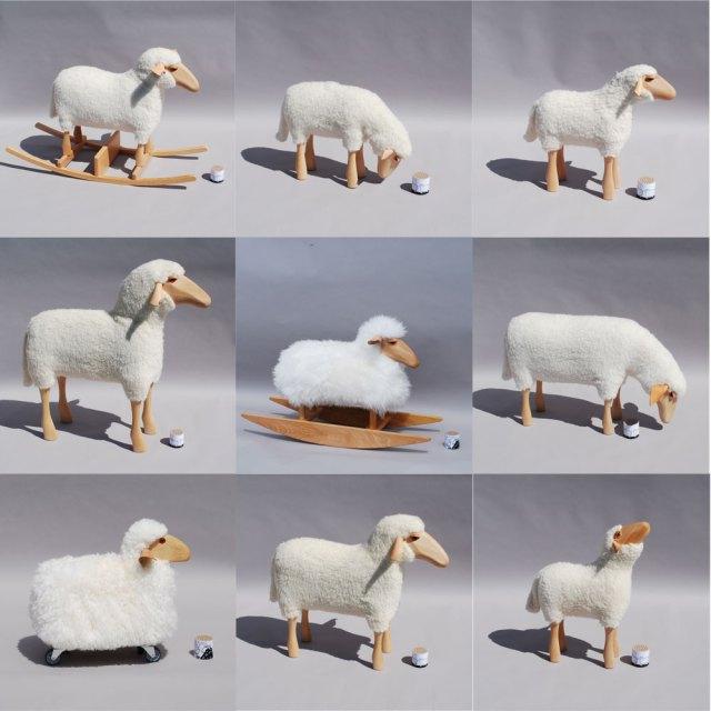 Moutons par Hanns Peter Krafft