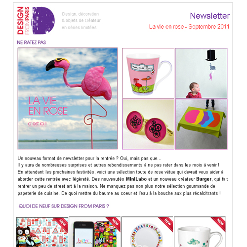 NEWSLETTER Septembre 2012 - La vie en rose