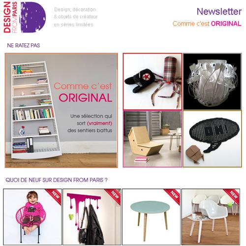 Newsletter Comme c'est original : sélections et nouveautés qui sortent de l'ordinaire !