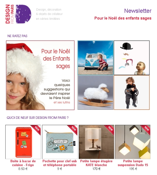 Newsletter Design from Paris : Pour le Noël des enfants sages !
