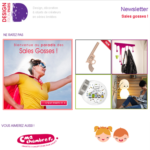 Newsletter Design from Paris - Sales Gosses - Juin 2013