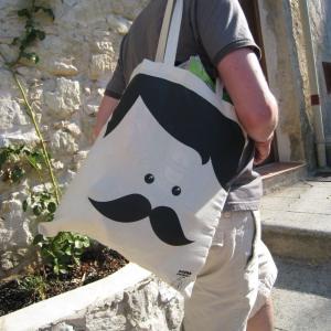 Sac Monsieur Moustache par Sirena con Jersey : 20.00€ sur DesignfromParis.com