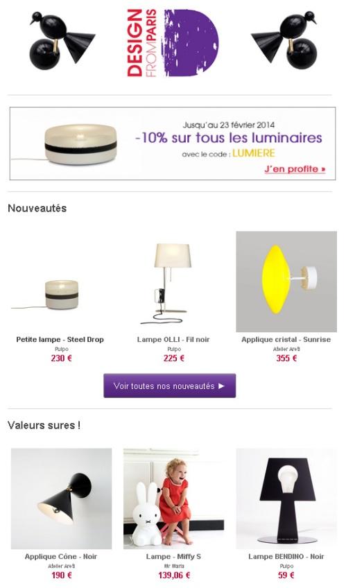 Newsletter Design from Paris - Février 2014 - Les 10 jours du luminaire