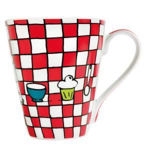 Mug - Plumes à carreaux sur Design from paris
