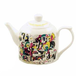 Théière Jon Burgerman en porcelaine - Edition Limitée sur www.designfromparis.com
