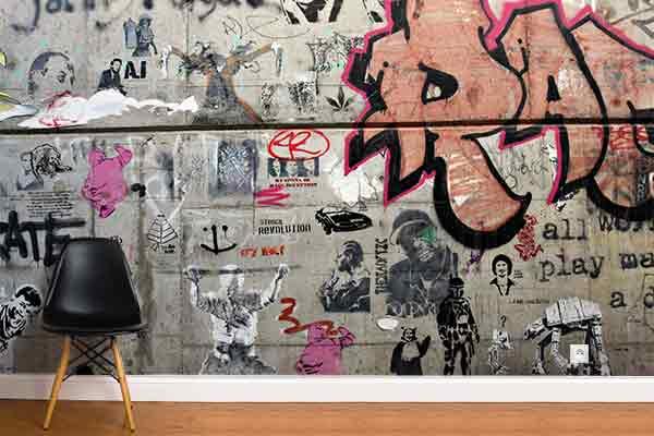 papier-peint-photo-assemblage-graffes