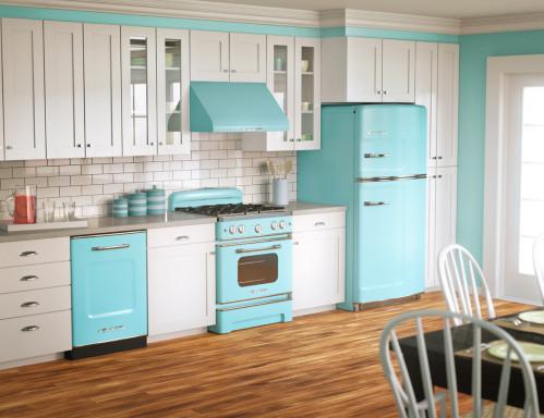 Cuisine rétro style vintage  : http://retrorenovation.com/pams-kitchen/
