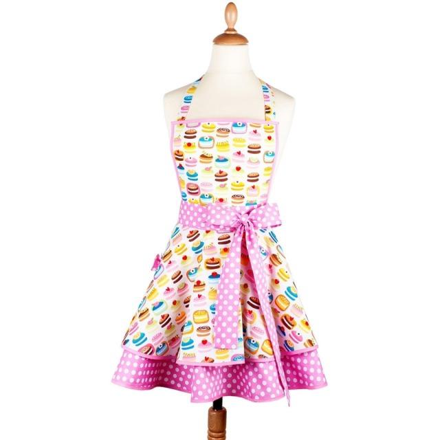 Tablier femme vintage Macaron rose  Madame Choup : 65 € sur DesignfromParis.com