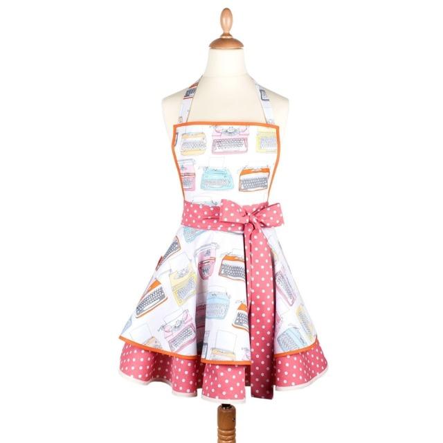 Tablier femme vintage Machine à écrire  Madame Choup : 65 € sur DesignfromParis.com