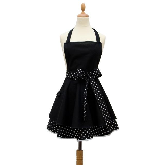 Tablier femme vintage Noir et Blanc  Madame Choup : 65  sur DesignfromParis.com