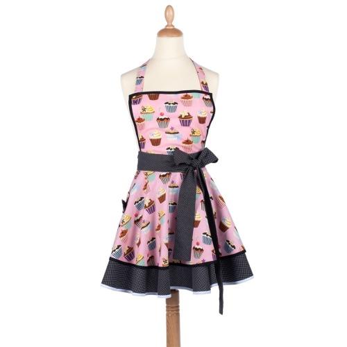 Tablier femme vintage Cupcake rose  Madame Choup : 65 € sur DesignfromParis.com