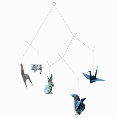 mobile-bebe-origami-chiyogami-bleu