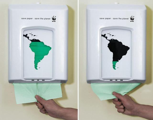 Ne gaspillez pas le papier, sauvez la planète par Wwf