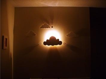 Veilleuse murale nuage