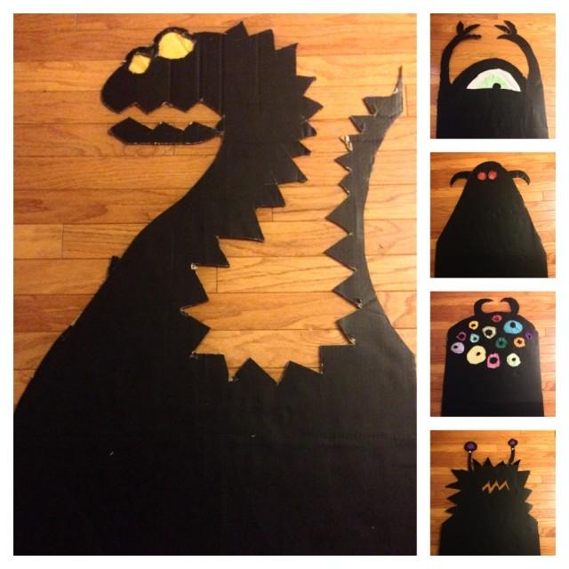 Monstres Halloween en carton DesignfromParis