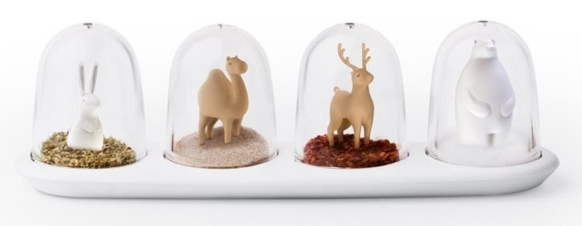 Pots à épices : La Parade des Animaux  Qualy Design : 35 € sur DesignfromParis.com