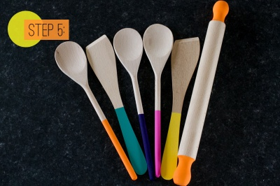 Paint-Dipped-Wooden-Spoons-Spatulas-Rolling-Pin-Home-DIY-Colourful-Kitchen-Step-5